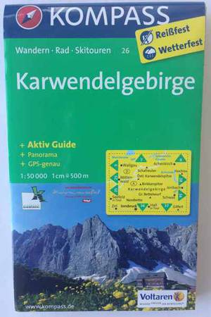 Die empfehlenswerte Ahornboden Karte mit dem Karwendel rundherum, Tirol und Bayern