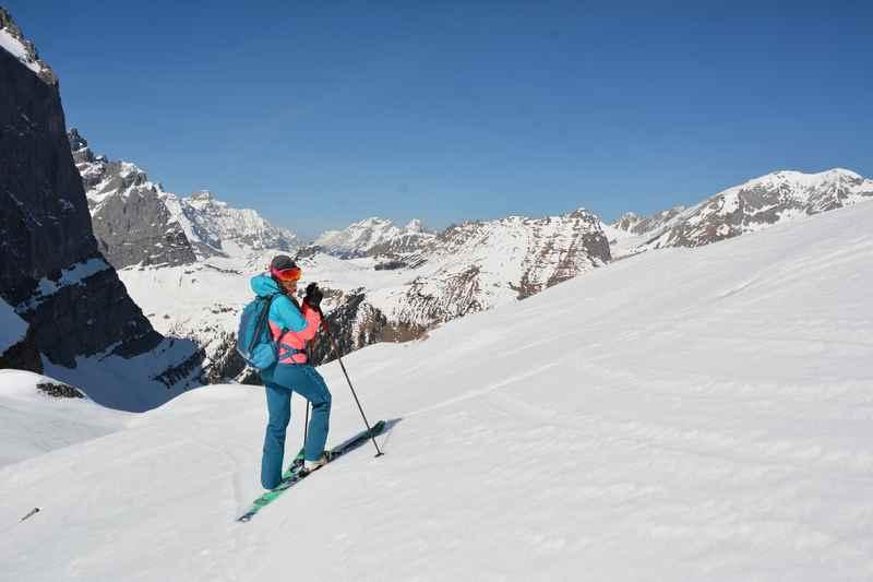 Skitouren am großen Ahornboden haben im Frühling Saison