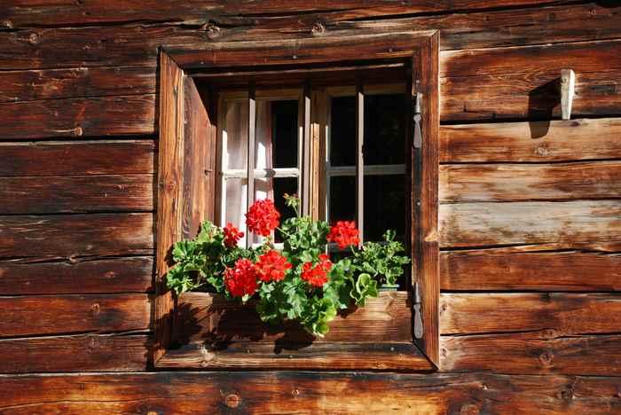 Viel Holz: Die Almhütten in der Eng sind aus Holz gebaut