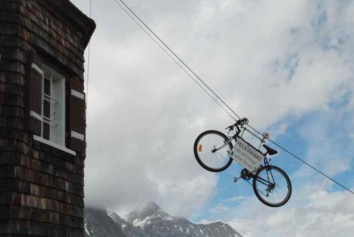 Auf die Falkenhütte mountainbiken? - das erste Mountainbike ist schon da...