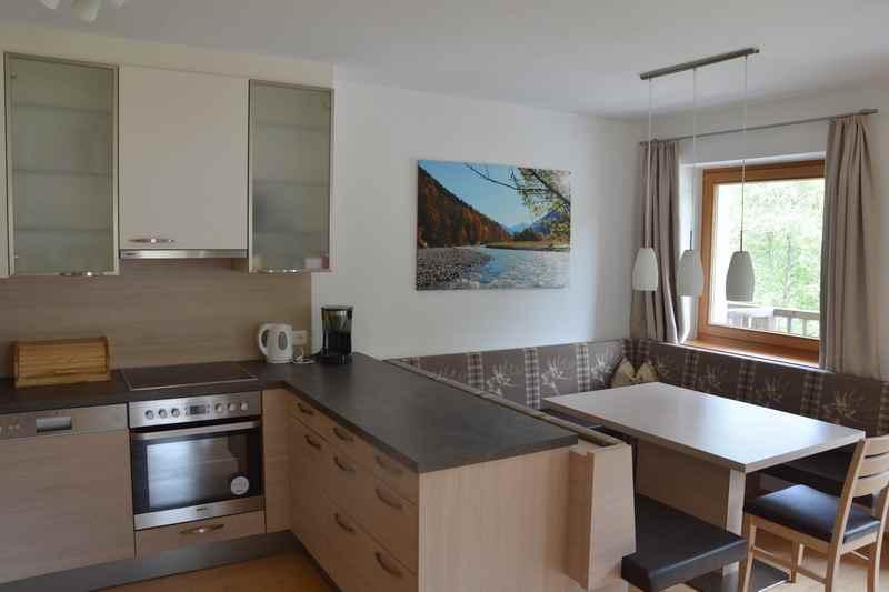 Die moderne Küche in der kleineren Ferienwohnung