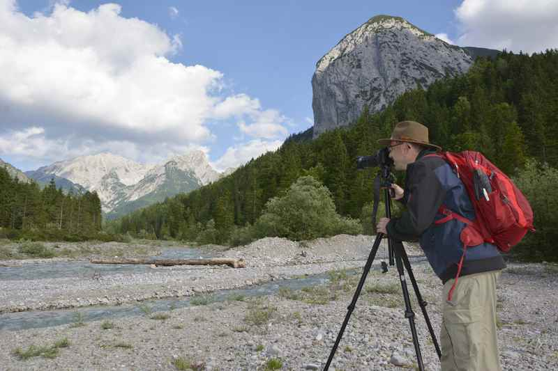 Der Fotoworkshop rund um den Ahornboden: Hier am türkisgrünen Rissbach