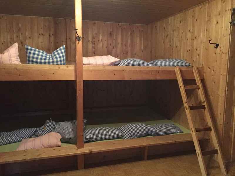 Zum Schlafen ins Lager in der Moarhütte im Karwendel