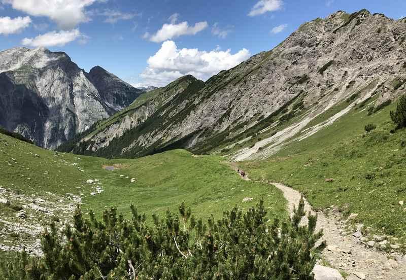 Die letzten Meter der Wanderung auf das westliche Lamsenjoch