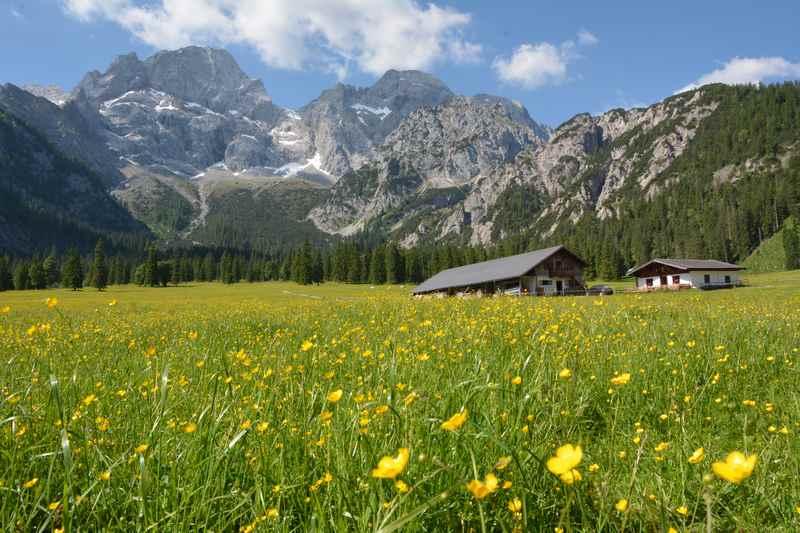 Rontal Tortal: Die idyllisch gelegene Rohntalalm im Karwendelgebirge