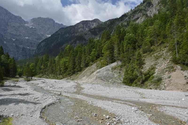 Das Tortal im Karwendel oberhalb von Hinterriß