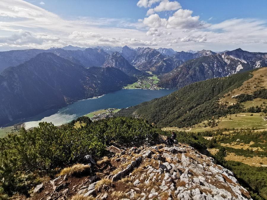 Der schönste Blick auf den See: Vom Rofan aus gesehen