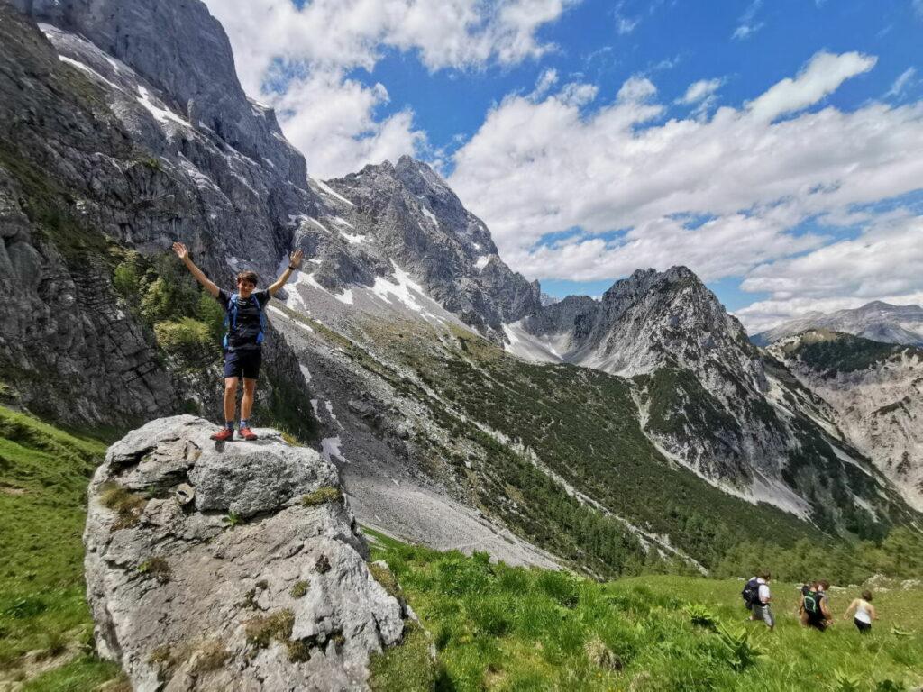 Karwendel wandern - diese schöne Landschaft erwartet dich bei deiner Ahornboden Wanderung