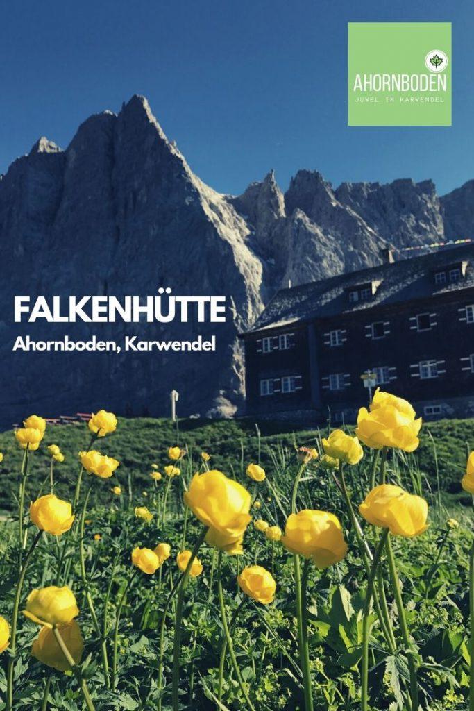 Schönes Karwendel - mit der Herzogkante hinter der Hütte