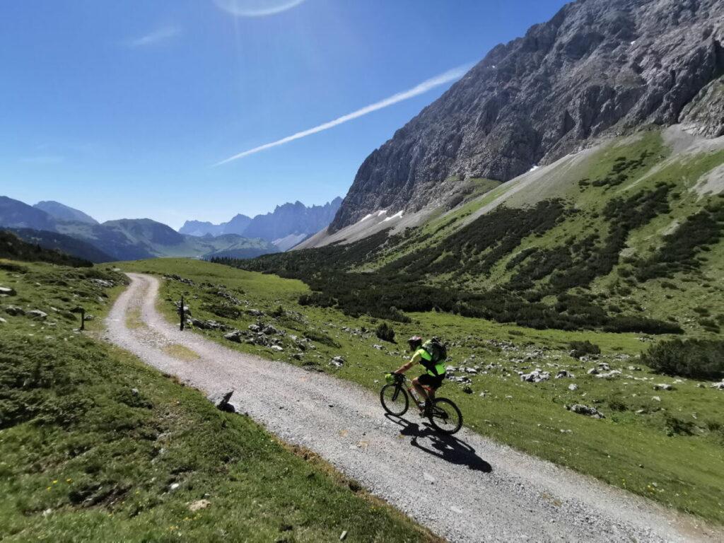 Karwendelhaus mountainbiken - ein Genuß