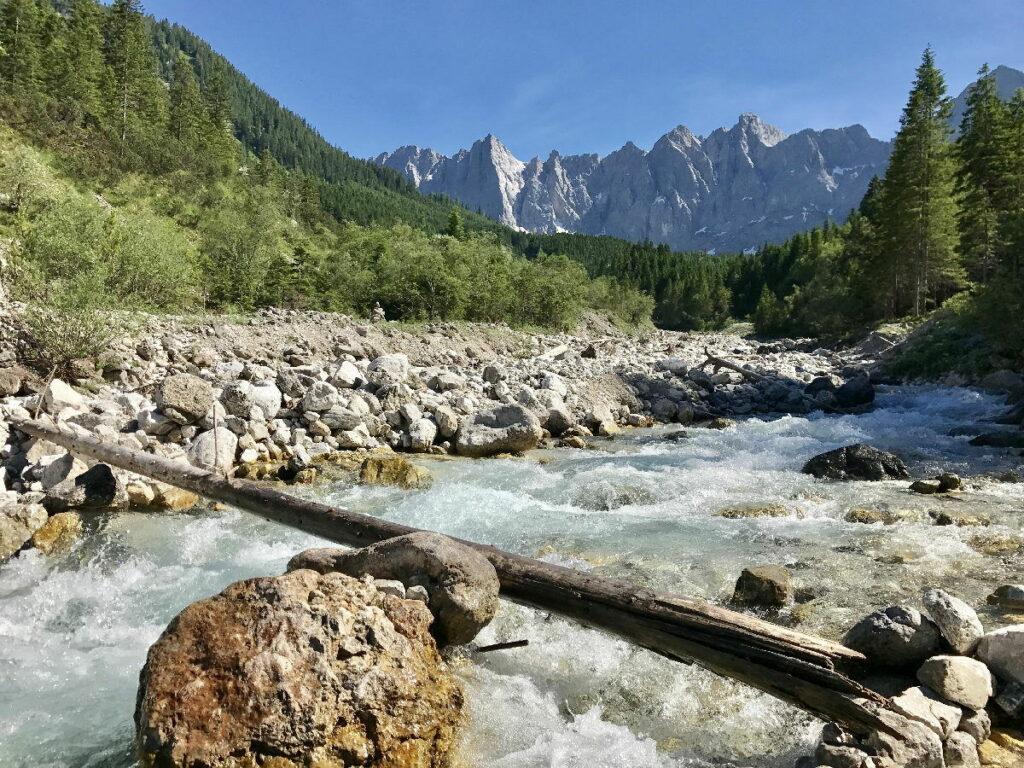 Auf dem Weg vom Risstal durch das Johannestal zum Karwendelhaus