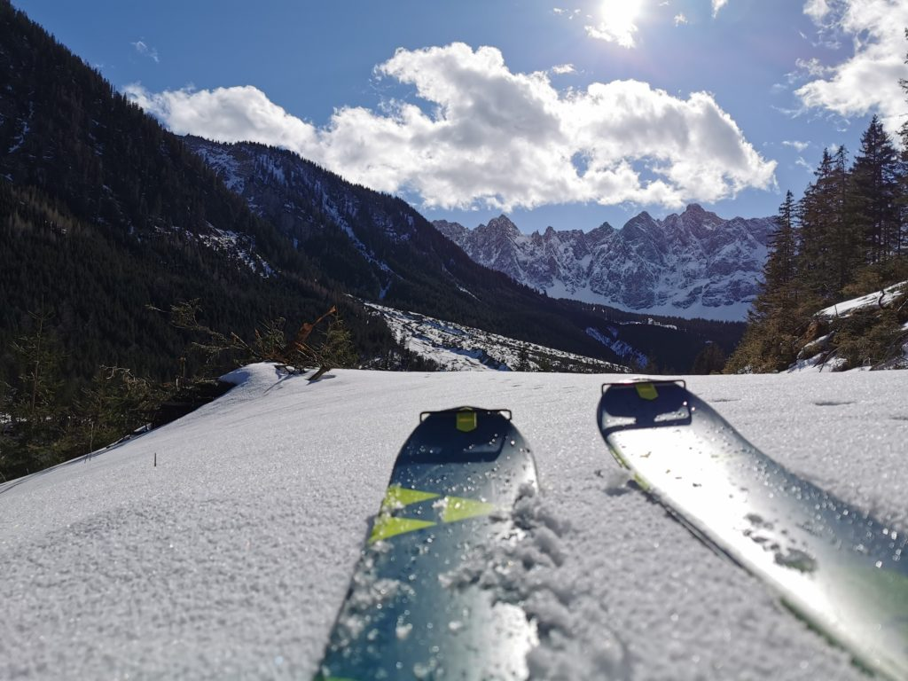 Johannestal Skitour - vom Rißtal sanft ansteigend in der schönen Winterlandschaft