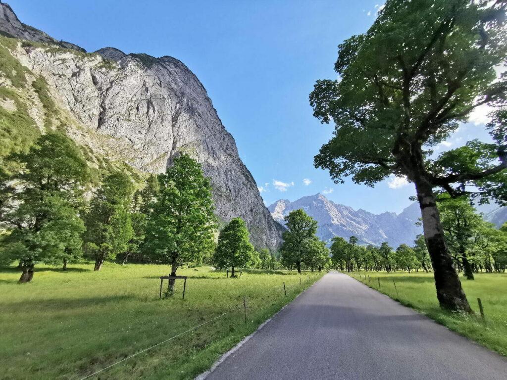 Mautstrasse Hinterriss Eng - eine der schönsten Panoramastraßen der Alpen