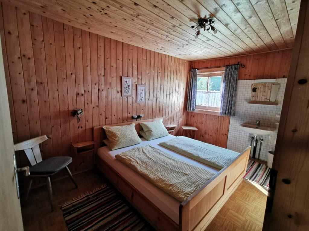 Moarhütte Engalm: Die Zimmer in der Hütte in der Eng, Engalm