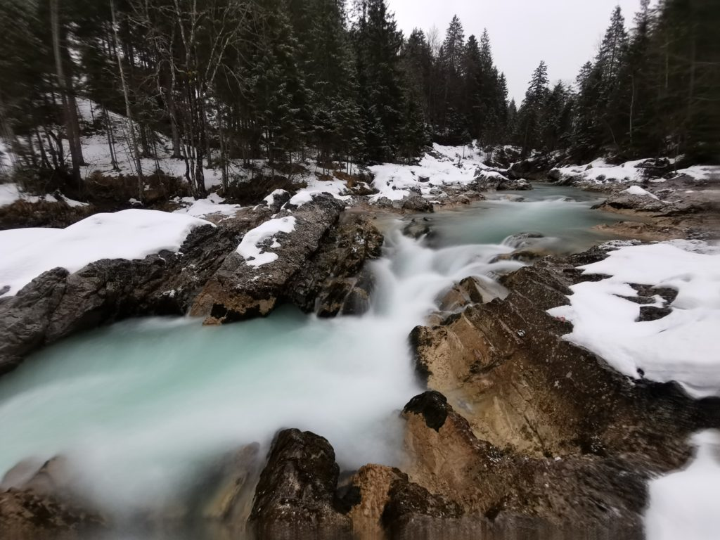 Die Rißbachklamm im Winter