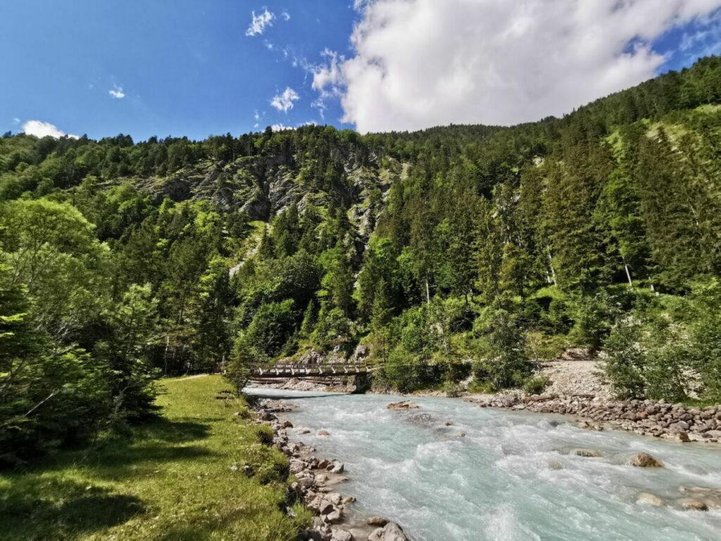 Der schöne Rissbach auf der Karwendel Wanderung