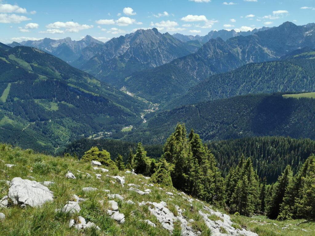 Das Risstal von oben gesehen -  Standort für diesn Ausblick ist der Vorderskopf Gipfel