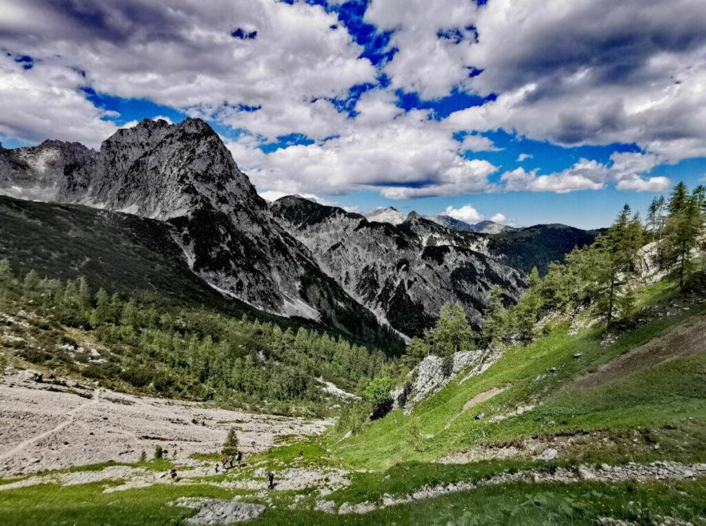 Aus dem Risstal in Richtung Torscharte - der Übergang zwischen Rontal und Tortal