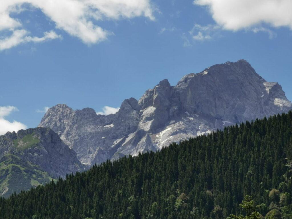 Aussicht vom Vorderskopf auf´s Karwendel