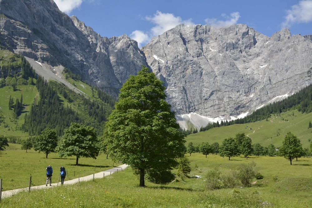 Lies meinen Wanderschuhe Ratgeber - dann kannst du am Ahornboden die Natur genießen!