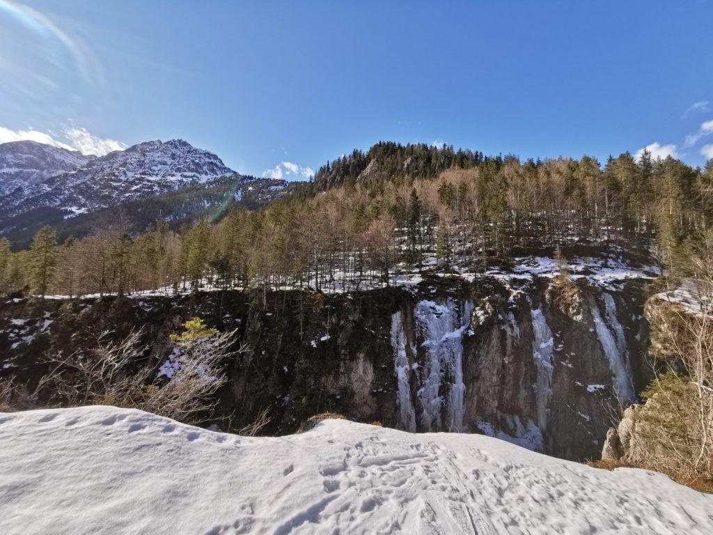 Winterwandern Hinterriss - aus dem Risstal Richtung Johannestal durch die Klamm